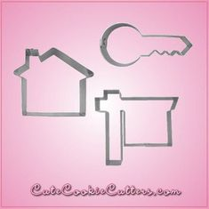 Our Real Estate Cookie Cutter Sets include 3 themed cookie cutters: Cool House, Modern Key, and Realty Sign. Each are made of sturdy aluminum. Cleaning instructions: hand wash, towel dry. Buy your set #realestateschool