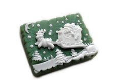 Reindeer and Santa Soap With Moon and Sun  Reindeer by SkyRainSoap