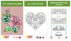 #Recopilaciones_y_listas #coloreado #Internet 4 apps Android de coloreado de dibujos para adultos