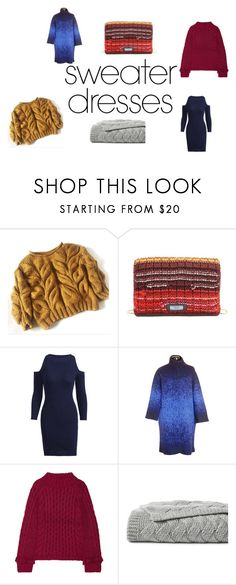 """""""Have fun this autumn enterng this warm knit contest"""" by morwenna-moseley ❤ liked on Polyvore featuring Prada, Strenesse Blue, Eleven Six and Lands' End"""