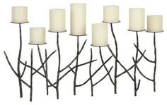 Twig Multi-Pillar Holder - modern - candles and candle holders - Crate&Barrel