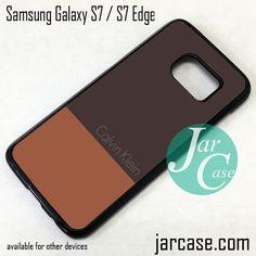 Calvin Klein Brown Mix Phone Case for Samsung Galaxy S7 & S7 Edge