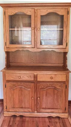 Repurposed China Cabinet, China Cabinet Redo, Painted China Cabinets, Repurposed Furniture, China Cabinet Makeovers, Small Cabinet, Antique Kitchen Cabinets, Kitchen Hutch, Cupboards