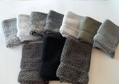 Dishcloths Knit in Cotton in Blacks and Greys, Wash Cloths, Napkins, Cotton Dish Cloths