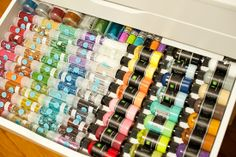 Alex Drawers from Ikea and other Ikea organization....| Tips for Redesigning Your Scrapbook Area