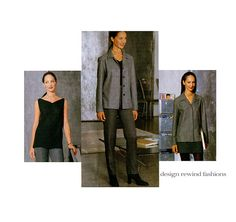 1990s VOGUE JACKET Top Skirt & Tapered Pants Pattern Marc Jacobs Vogue 2068 American Designer by DesignRewindFashions Vintage & Modern Sewing Patterns on Etsy