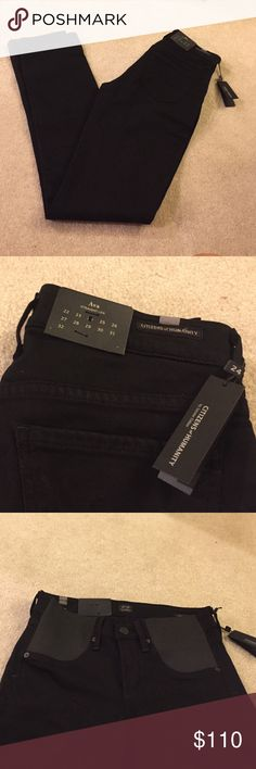 """Citizens of Humanity Maternity Ava jeans 24 Brand new Citizens of Humanity Maternity """"Ava"""" skinny straight leg jeans, size 24, black. Wonderfully forgiving stretch denim with elastic side panels, a preggo's closet staple! Citizens of Humanity Jeans Straight Leg"""