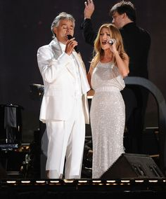 Celine Dion Photo - Andrea Bocelli And The New York Philharmonic In Concert - Show
