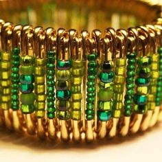Bracelet made with safety pins