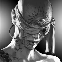 Third eye mutant, can see pathways. Character Portraits, Character Art, Character Design, Fantasy Rpg, Dark Fantasy, Dnd Characters, Fantasy Characters, Blind Girl, World Of Darkness
