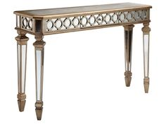 Shop for Stein World Mikala Table, 12360, and other Living Room Tables at Stein World in Memphis, TN. Mirroring and geometric patterns give Mikala an upscale look. This mirrored console with drawer is glamorous and feminine.