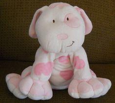 """Asthma Friendly Pink Large Puppy Dog Stuffed Plush Kids Preferred 11"""" Spot Dot…"""