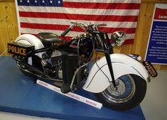 vintage police indian motorcycle