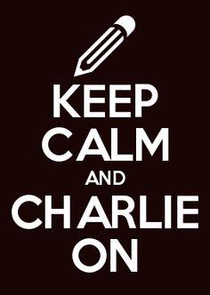 KEEP CALM AND CHARLIE ON #jesuischarlie