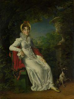 Portrait of Marie Caroline Ferdinande Louise de Naples, Wife of Charles Ferdinand, Duke de Berry, in the Park de Bagatelle in the Bois de Boulogne, Paris, François Pascal Simon Gérard (Baron), 1820 - 1837
