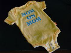 Nom On Mom funny infant bodysuit