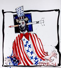 A caricature of Tony Blair. RALPH STEADMAN - Ralph Steadman on Charlie Hebdo, the Right to Offend and Changing the World