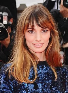 20 Gorgeous Long Hairstyles with Bangs: Gaia Bermani Amaral