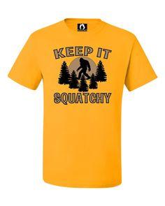 Adult Keep It Squatchy Sasquatch Bigfoot T-Shirt