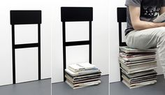 chair on the wall >> Definitely introduce this idea to my mommy :p