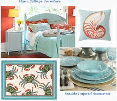 These colors, coral and turquoise, are my main inspiration for my beach house!