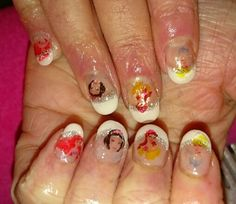 Disney Princess nails