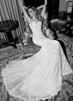 Tales of the jazz Age II parte Galia Lahav bridal collection 2015. Audrey Front