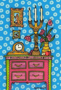 Naive art still life Naive Art, Still Life, Advent Calendar, Folk Art, My Arts, Holiday Decor, Design, Home Decor, Homemade Home Decor