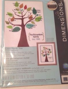 Dimensions Crewel Embroidery Kit Stylized Family Tree Modern Shamin Patel in Crafts   eBay #crafty #tree #embroidery