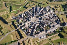 ✈️ Photo aérienne de : Rocroi - Ardennes (08) Castle Layout, Star Fort, Aerial Photography, Night Photography, Central Park Manhattan, France City, Honeymoon Places, Fantasy City, Ardennes