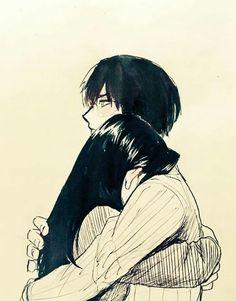 Boku no Hero Academia Couple Amour Anime, Anime Love Couple, Manga Couple, Cute Anime Couples, Couple Art, Anime Couples Hugging, Anime Couples Cuddling, Anime Couples Manga, My Hero Academia Manga