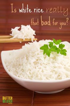 Think white rice is seriously bad for you? Read this! And enjoy good-tasting rice again, guilt-free. :) Hymmmm.  I love the chewiness of brown rice!