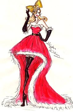 Hayden Williams Fashion Illustrations: Fashionably Festive Couture!