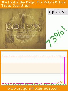 The Lord of the Rings: The Motion Picture Trilogy Soundtrack (Audio CD). Drop 73%! Current price C$ 22.58, the previous price was C$ 82.99. https://www.adquisitiocanada.com/others/lord-rings-motion-picture