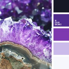 Amethyst color. Purple, violet and pink colors. Color inspiration for design, wedding or outfit. Moore color pallets on color.romanuke.com.