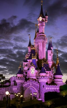 Disneyland Paris Castle, My Dream, World, Castles, Night, The World