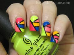 Neon color block from kaylashevonne.com