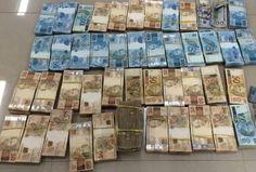 A Polícia começou a contar o dinheiro na quinta-feira às 9h (horário de Brasília), mas o volume de dólares, euro e reais era tão grande que impediu que os números finais fossem conhecidos até o final do dia, após nove horas de contagem de dinheiro