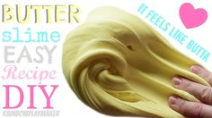DIY EASY BUTTER SLIME!!! Simple NO CLAY Recipe!!!  FAILPROOF!