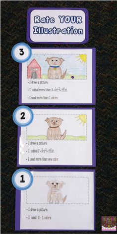 Illustration Rubric - teaching kids to self assess their work.