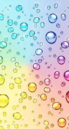 Fondos burbujas de colores