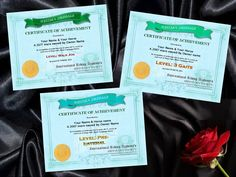 Some of the certificates for the Western Dressage program