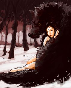 Girl_with_wolf_by_LolosArt
