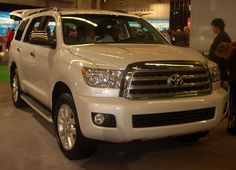 A new and shiny Toyota Sequoia.