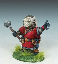 Hedgehog Cleric with Mace - Critter Kingdoms™ Anthropomorphic Animals - Miniature Lines
