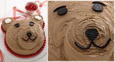 Teddy Bear Cake - easy kid's birthday cake