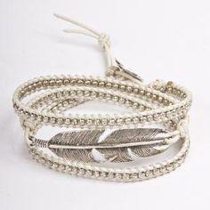 Feather wrap bracelet by M. Cohen