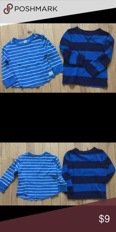 Gap stripe thermal waffle toddler boys tops shirts 1 gap stripe thermal top size 18-24 months 100% cotton  1 cat & jack stripe thermal top size 18 months 60% cotton/40% polyester  Shows minor pilling from wash and wear. No stains or holes. GAP Shirts & Tops Tees - Long Sleeve