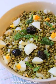 Nesrin's Küche: Maş Fasulye Piyazı / Mungbohnensalat