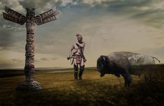 https://flic.kr/p/Jhfssx | L'âme des anciens | Created for dA Users Gallery Challenge 138 - Totem  Stock with thanks to Camelfobia